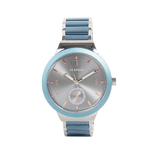 Parfois - Reloj Silver Tray - Mujeres - Tallas Única - Azul: Amazon.es: Relojes