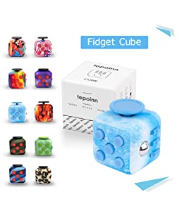 Tepoinn Fidget Attention Cube Relieves Stress and Anxiety Educational Development Toys for ADD, ADHD, Anxiety, and Autism Children and Adults