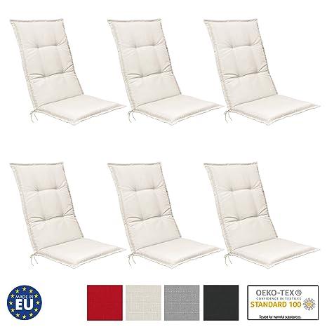 Beautissu Set de 6 Cojines para sillas de Exterior, tumbonas ...