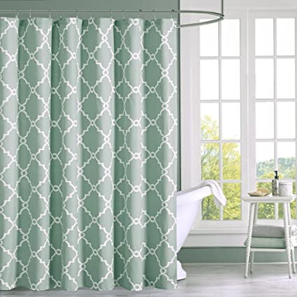 Amazon.com: Madison Park Saratoga Simple Modern Cotton Fabric Shower ...