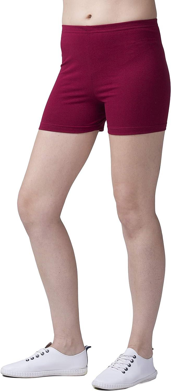 SENTELEGRI Super Soft Cotton Shorts Elastic Stretch Yoga Knickers UK 8-22