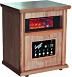Comfort Zone Quartz Wood Cabinet Heater with remote control