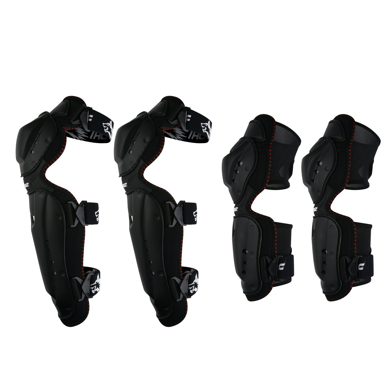 Huntingwolf Racing Knee Shin Elbow Guards Motorcycle Motocross Protective Gear - KN02 by Huntingwolf