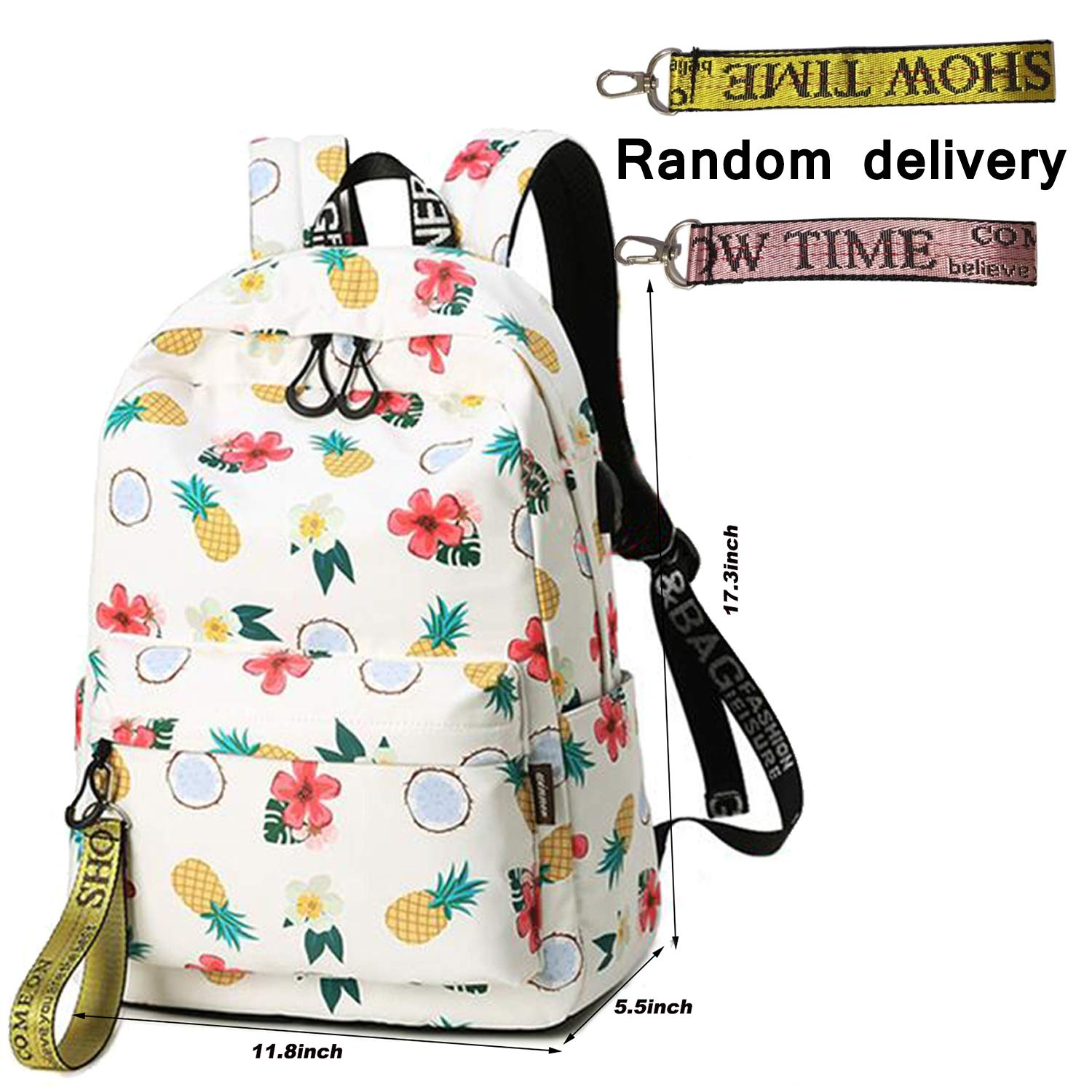 8a72f7876ae4 Amazon.com  School Backpack Teen Girls Bookbag Cute School Bag College  Laptop Backpack with USB Charging Port Travel Rucksack for Middle School  Womens  ...