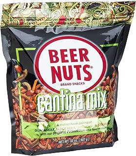 product image for BEER NUTS Cantina Mix - 32 oz. Resealable Bag, Original Peanuts, Chili Lemon Roasted Corn, Black Bean Sticks, Guacamole Bites