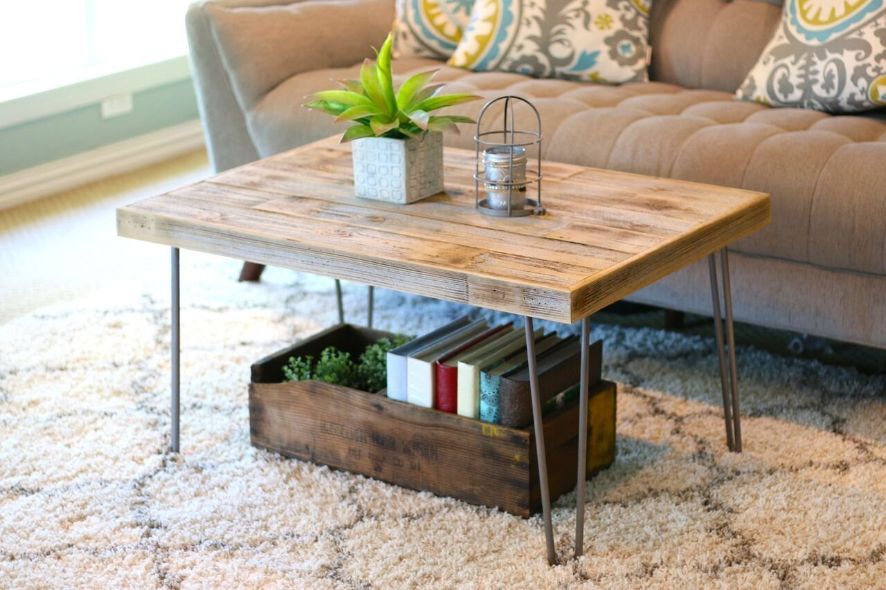 Industrial Natural 36×24 Coffee Table