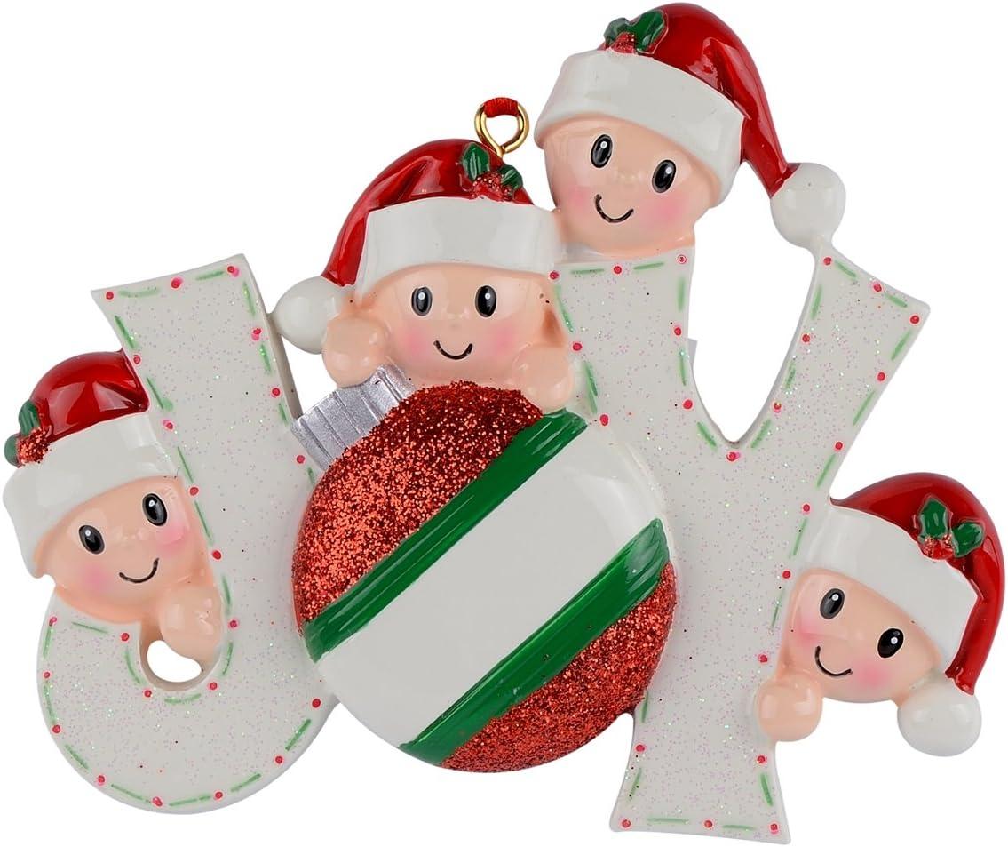 WorldWide Joy Family of 4 Personalized Ornaments