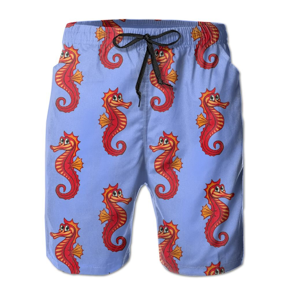 Men's Ocean Pony Quickly Drying Lightweight Fashion Board Shorts Swim Trunks M by COOA