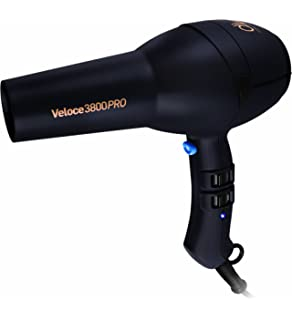 Diva Professional Veloce 3800 Pro Black Diva - Secador de pelo, color negro