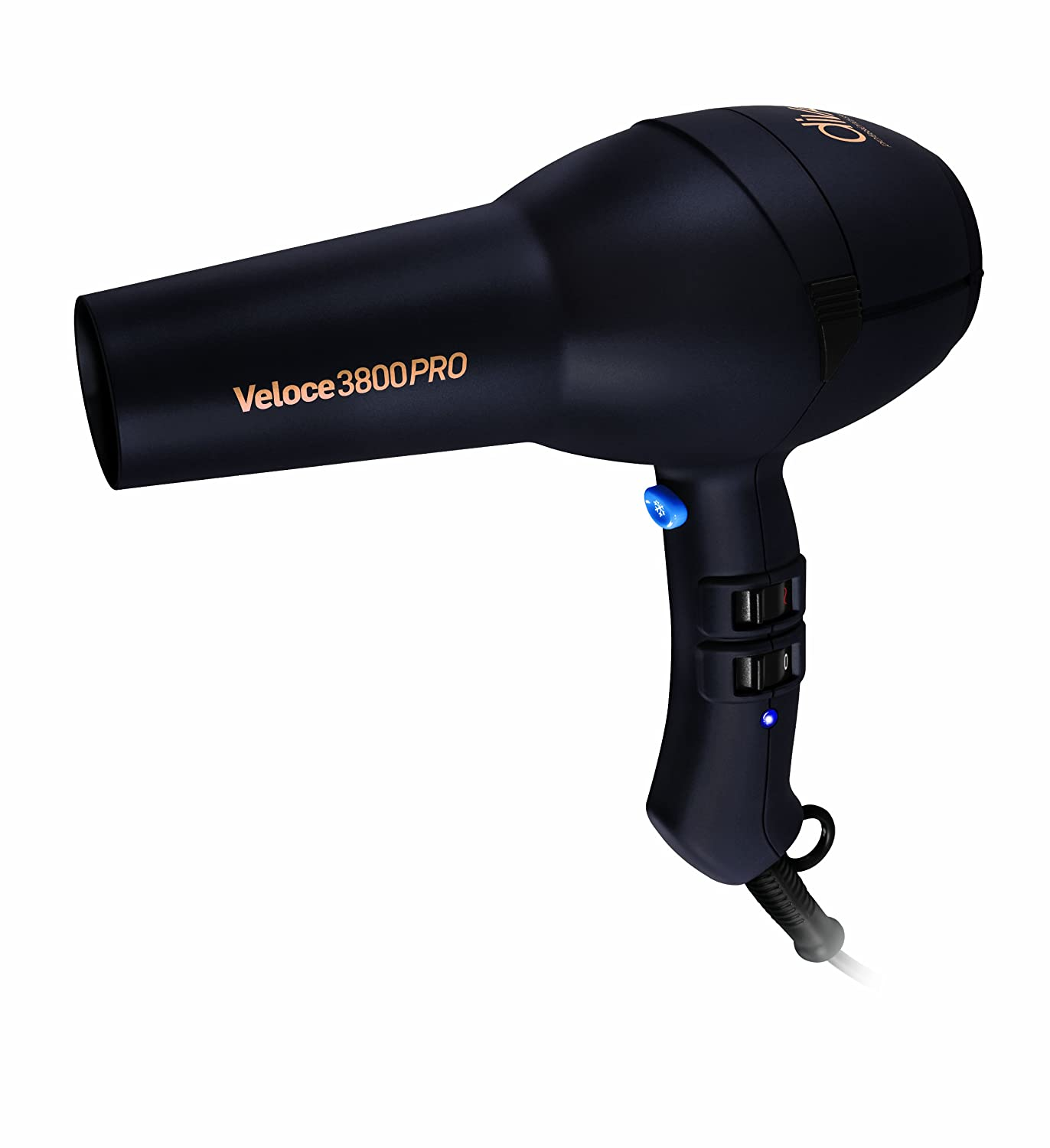 Diva Professional Styling Veloce 3800 Pro Rubberised Black SalonUK SUK134