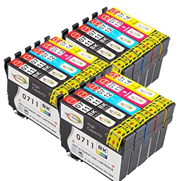 WinTinten 15 Tinta Compatible para Epson T0711 T0712 T0713 T0714 ...