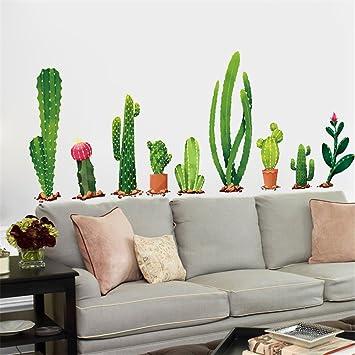 Cactus Mirror Wall Sticker Vinyl Decal Home Decor Acrylic Art Removable Diy Cute