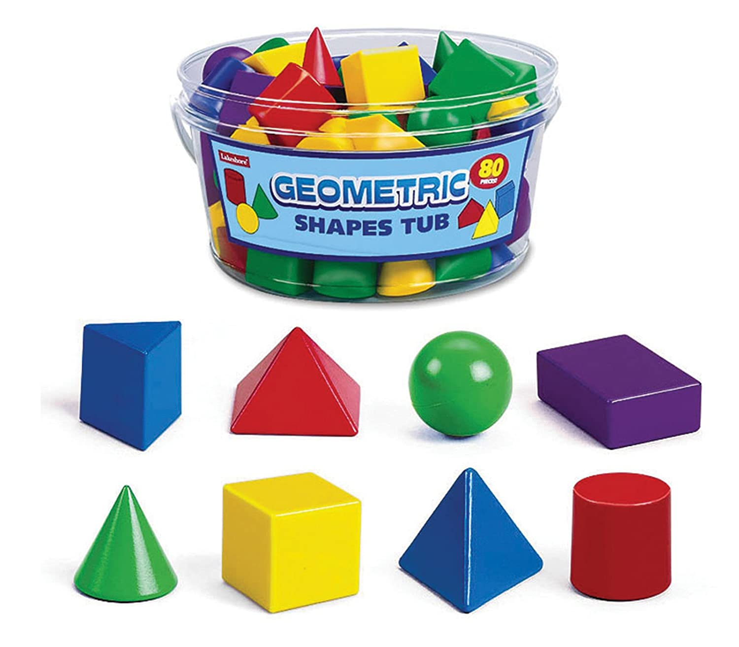 Amazon Lakeshore 3 D Geometric Shapes Tub Toys & Games