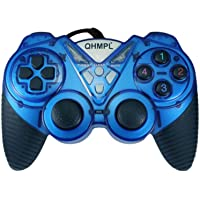 Quantum QHM7487-2V-C USB Game Pad with Turbo Function (Blue)