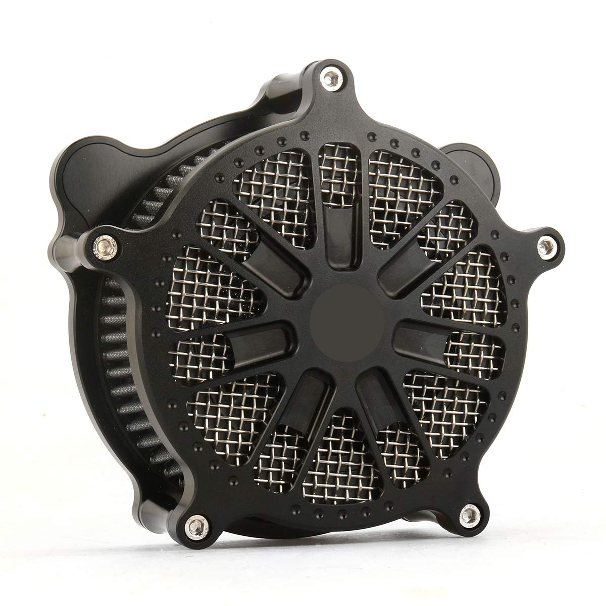BLACK VENTURI AIR CLEANER INTAKE COVER for harley sportster XL 1991-2019 air filters sportster 883 1200   B07M9RNJW7