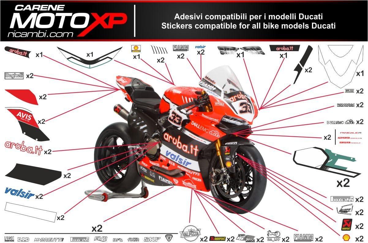 Pegatinas Adhesivos Motos Racing Ducati 1299 959 Panigale SB17 ...