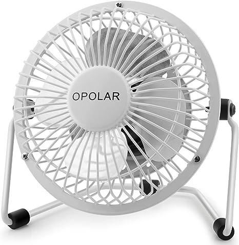 Amazon Com Opolar Mini Usb Desk Fan Portable Super Quiet Metal