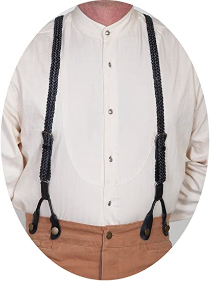 Men's Vintage Style Suspenders Braided Suspenders $45.54 AT vintagedancer.com