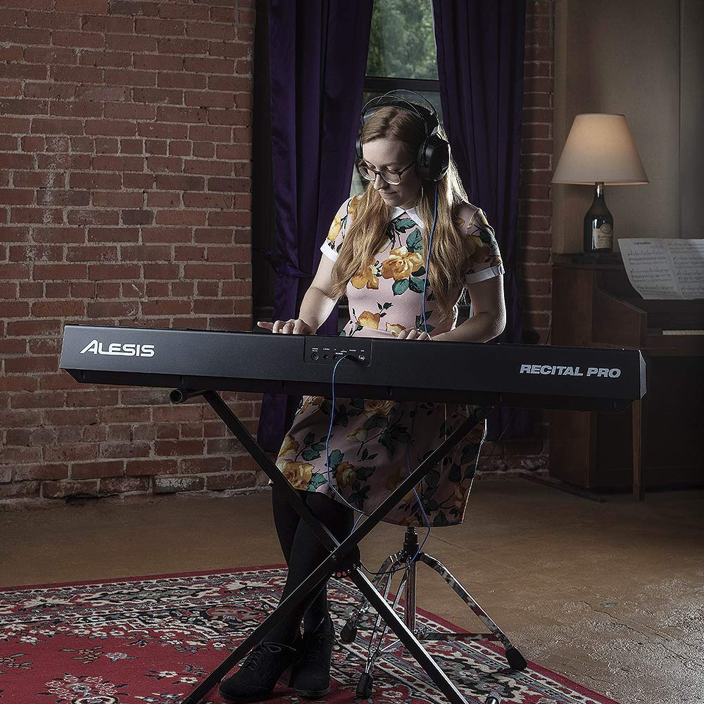 Alesis Recital Pro | Digital Piano / Keyboard with 88 Hammer Action Keys, 12 Premium Voices, 20W Built-in Speakers, Headphone Output and Educational Features by Alesis (Image #6)
