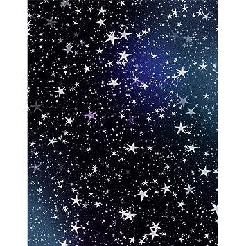 5 x 7 ft azul oscuro cielo nocturno estrellas fondo tela niños Kids cumpleaños fotografía telón