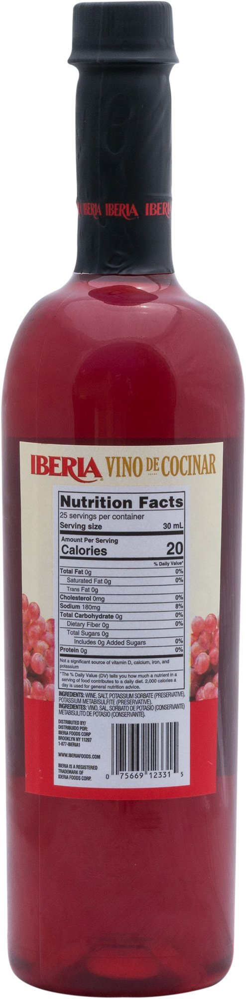 Iberia Red Cooking Wine 25.4 fl. oz, Exclusively for Cooking, Full-Strength Wine That Enhance the Flavor of Almost Any Dish by Iberia (Image #2)