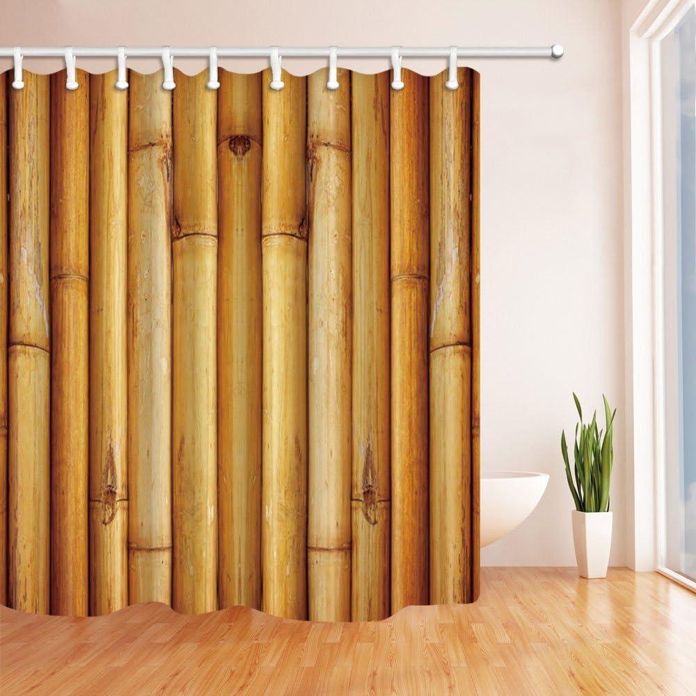CDHBH 3D Bamboo Forest tenda della doccia 180,3/x 180,3/cm Tessuto in poliestere resistente alla muffa bagno fantastiche decorazioni bagno tende ganci inclusi