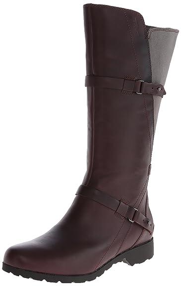Amazon.com | Teva Women's De La Vina Tall Waterproof Leather Boot ...
