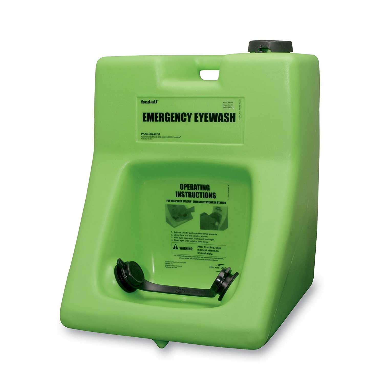 Image of Fendall Porta Stream II 16-Gallon (60.5 L) Refillable Primary Emergency Eye Wash Station (with 8 oz. / 237 ml Water Additive)