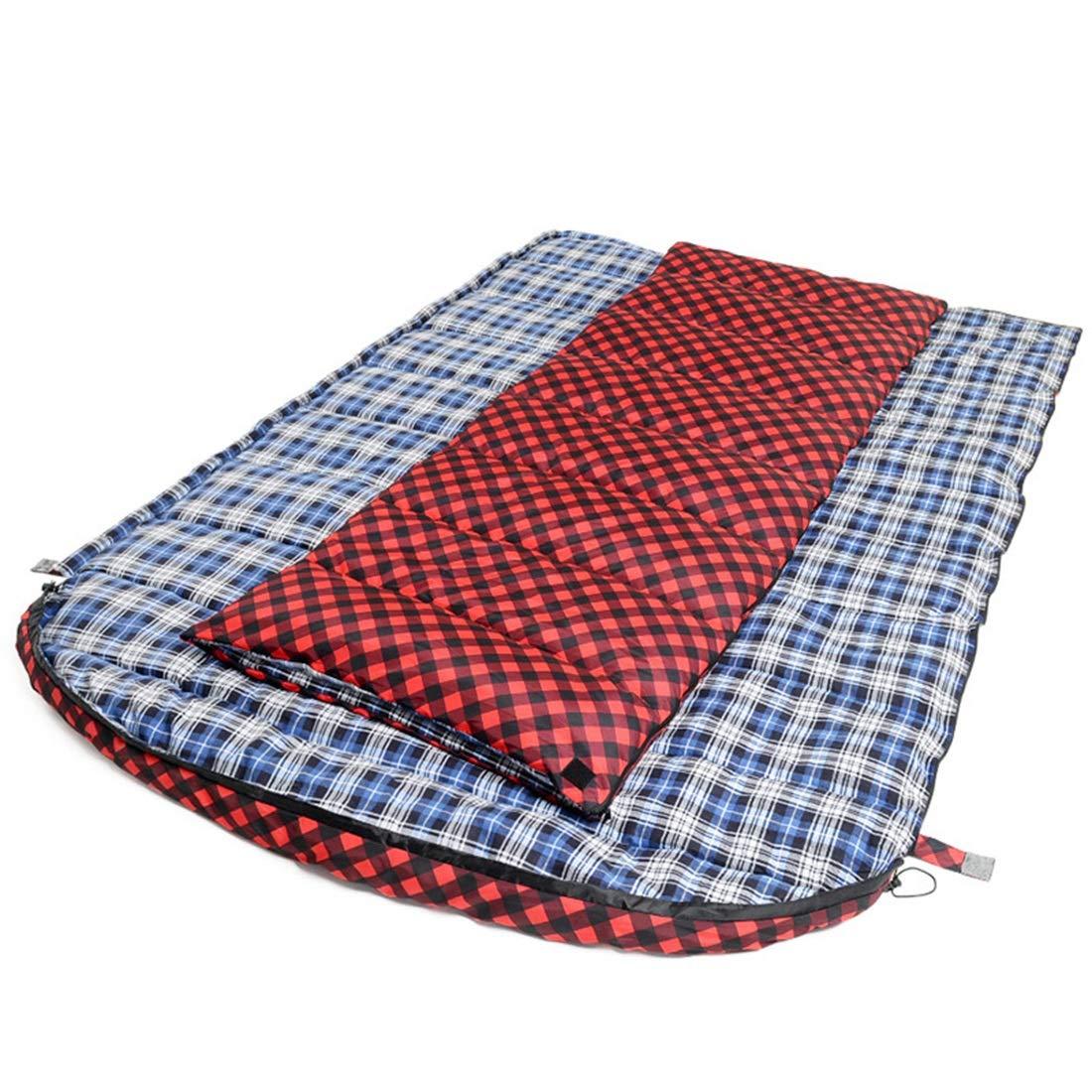 JOYIYUAN Umschlag Schlafsack 3 Person Dünne Outdoor Reise Camping Flanell Erweiterung Und Verdickung Schlafsack Rot