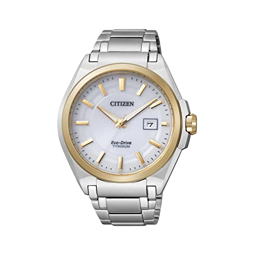 Citizen Super Titanium BM6935-53A - Reloj analógico de cuarzo para hombre, correa de
