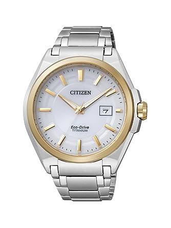 a93d8e6e310f Citizen Super Titanium BM6935-53A - Reloj analógico de Cuarzo para Hombre