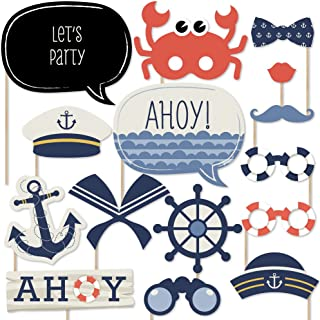 product image for Big Dot of Happiness Ahoy - Nautical - Photo Booth Props Kit - 20 Count