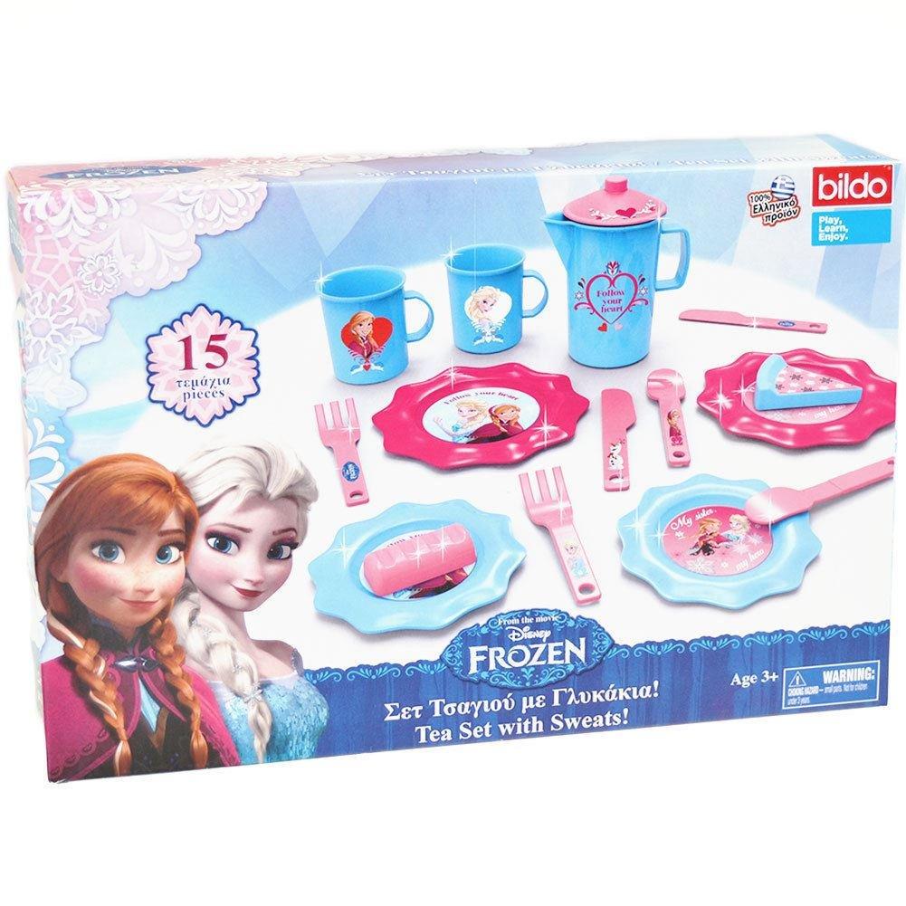 Bildo Frozen Tea Set & Sweats #8705 Girls Toy Gift
