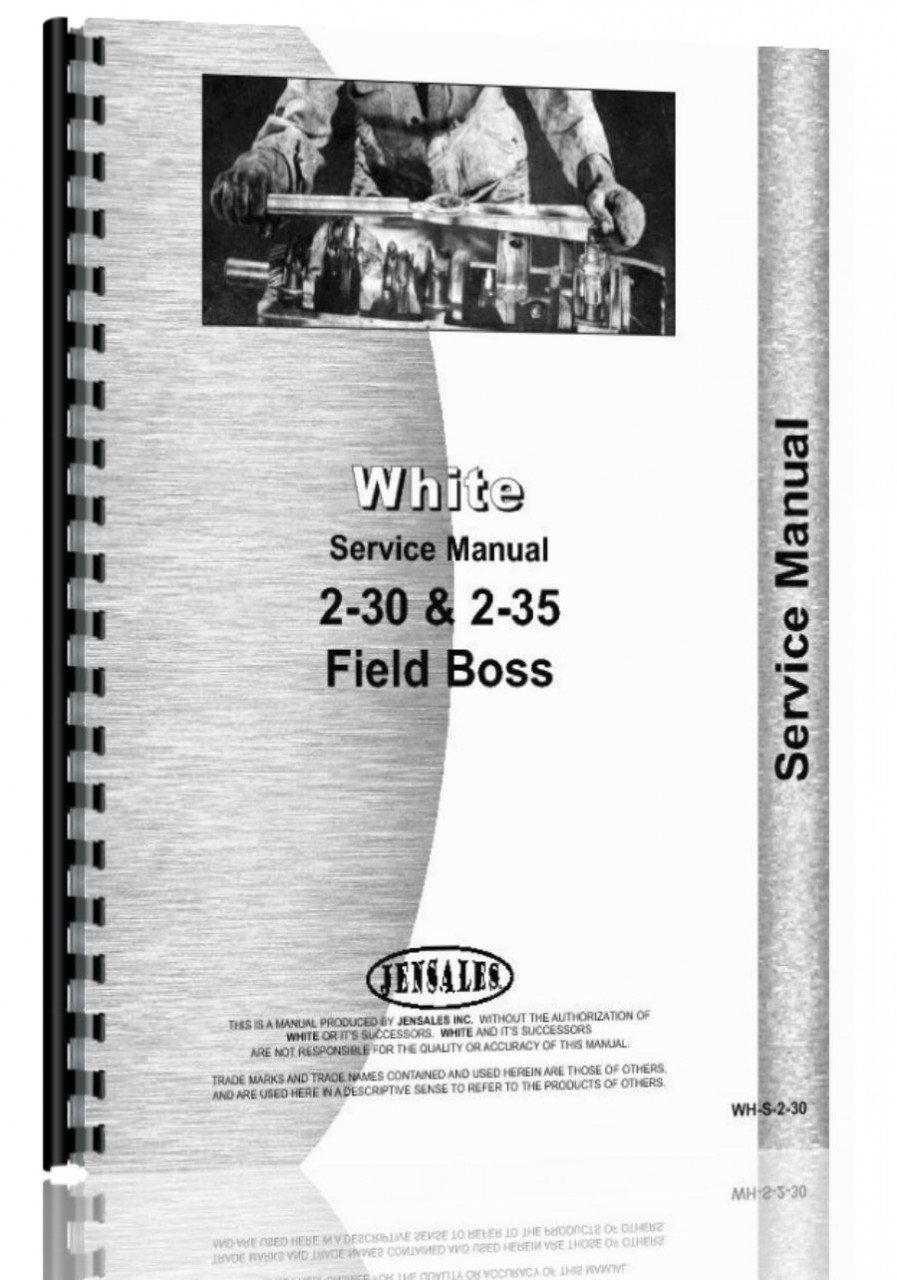 Read Online White 2-35 Tractor Service Manual pdf