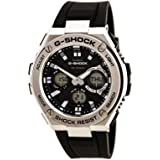 Casio Men's G SHOCK Stainless Steel Quartz Watch with Resin Strap, Black, 26.8 (Model: GST-S110-1ACR