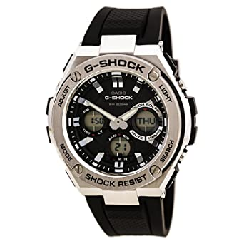 Casio Men's 'G SHOCK' Quartz Stainless Steel and Resin Casual Watch, Color: Black (Model: GST-S110-1ACR)