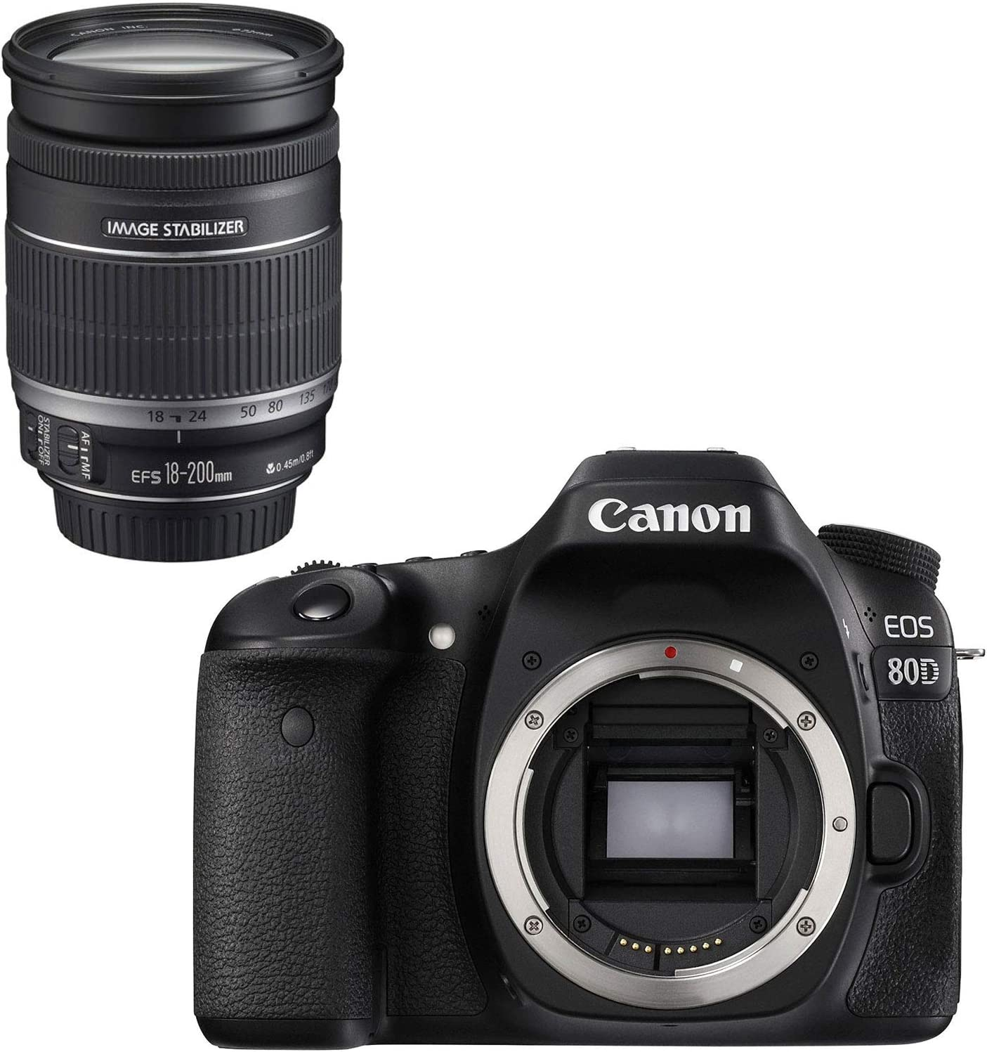 Canon EOS 80D Kit III + 18-200mm Juego de cámara SLR 24.2MP CMOS ...