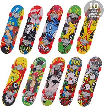 Mini Fingerboard Boys Kids Funny Skateboard Toys Decoration for Party Favors
