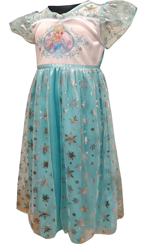 AME Sleepwear Girls Disney Frozen Princess Elsa Dress Up Nightgown