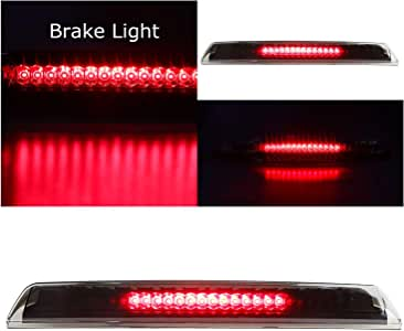 Sanzitop LED 3rd Brake Light Rear Tail Light Cargo Lamp High Mount Brake Light Fit for 2004-2015 Nissan Titan 2005-2016 Nissan Frontier 26590-EA800 Chrome Housing Smoke Lens