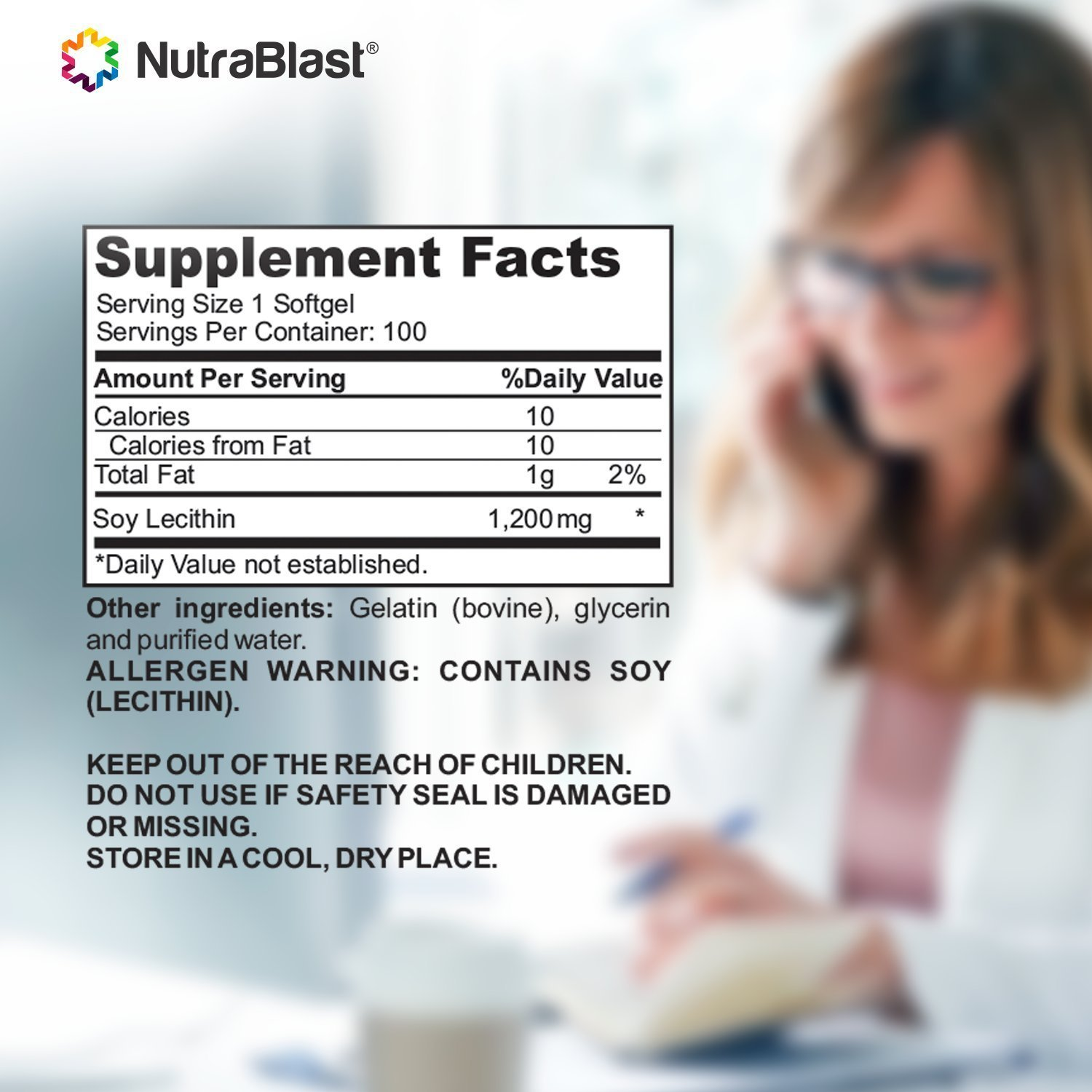 NUTRABLAST SOY LECITHIN 1200MG SUPPLEMENT