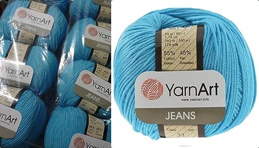 YarnArt Jeans Hilo de algodón Amigurumi Baby Hilo 50 g Yarn Art ...