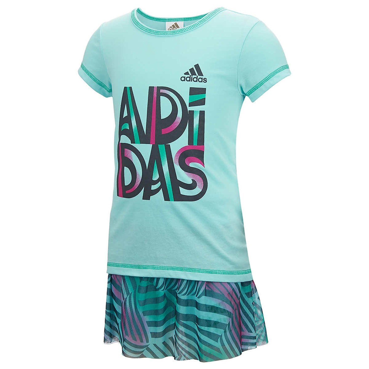 Adidas 2 Piece Top & Skort Set for Girls