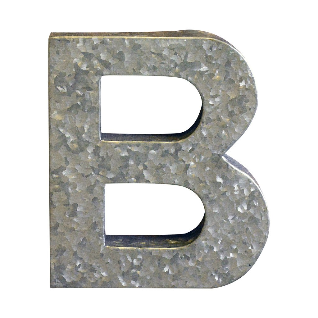 Modelli Creations Alphabet Letter B Wall Decor, Zinc
