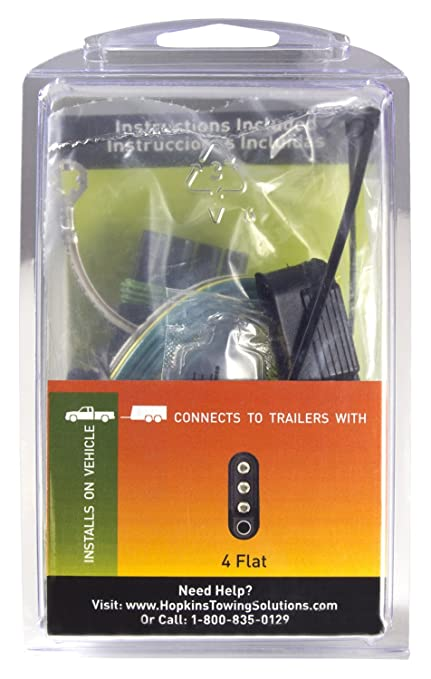 amazon com hopkins 41125 plug in simple vehicle wiring kit automotive rh amazon com RV Blade Hopkins Towing Solutions Hopkins Towing Adapters