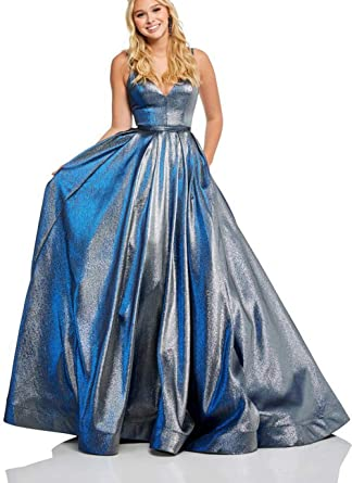 Prom Dresses with Teal Glitter