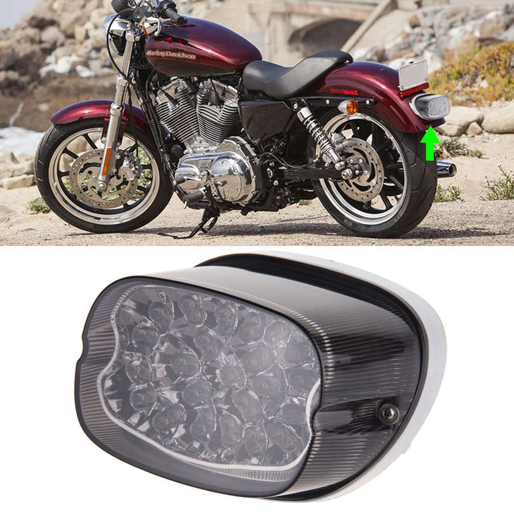 Amazon.com: Motorcycle LED Tail Light Turn Signal for Harley Davidson  Fatboy Heritage Sportster 883 Dyna Road King Electra Glide Nightster Street  Bob FLHR ...