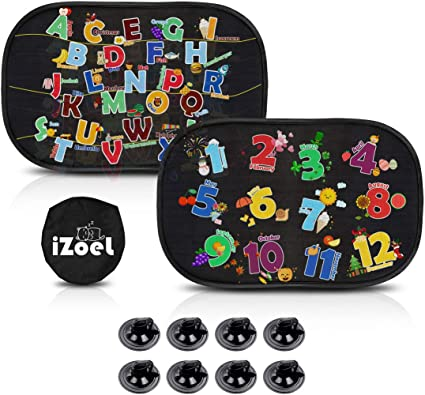 iZoeL Car Sun Shade for Baby Kids - Great Window Shades for Learning