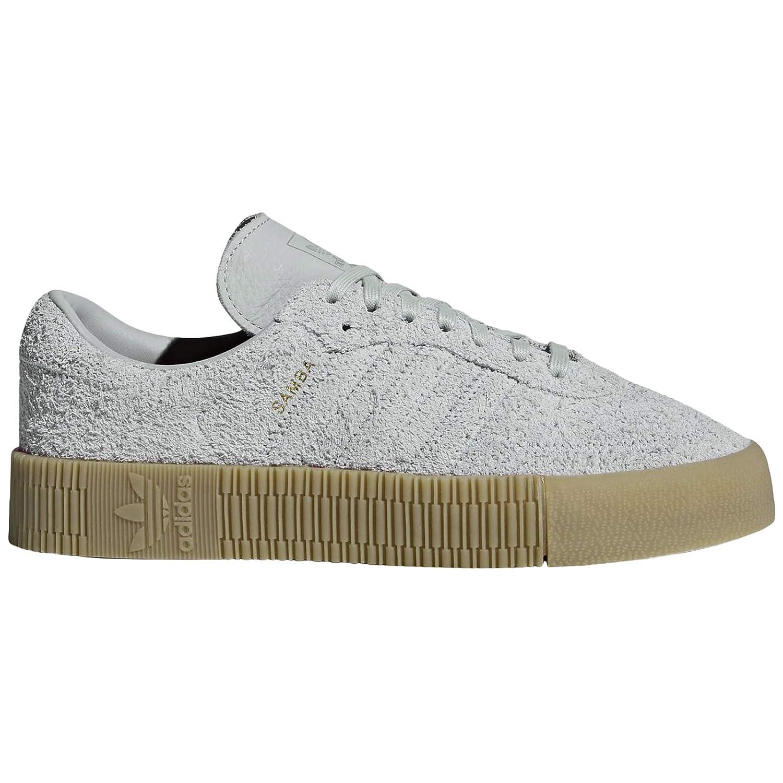 18e09d274a6f4 Amazon.com | adidas Womens Sambarose Suede Grey Gum Trainers 5 US ...