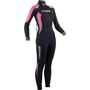 Cressi Summer 2.5mm Womens Back Zip Full Wetsuit